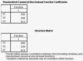 Analisis Diskriminan SPSS Structure Matrix