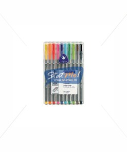 Staedtler Triplus Roller Pen Set of 10 by StatMo.in