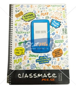 Classmate Selfie Pulse 6 Sub Spiral Notebook 300 Pages by StatMo.in