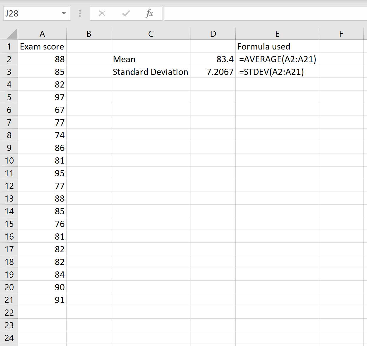 How To Calculate The Coefficient Of Variation In Excel