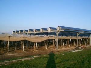 Impianto fotovoltaico nel barese, immagine d'archivio