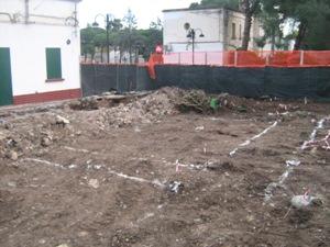 Lavori terreno antistante Piazza Santa Maria Regina (copyright Stato)