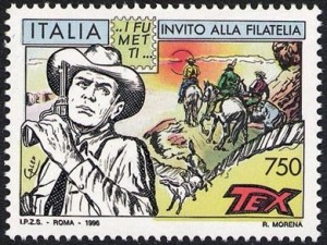 Tex Willer, francobollo