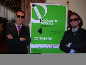 Paolo Gabriele e Vittorio Caliò al Convegno di Roma 'Documento Digitale'