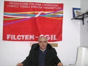 Il segretario provinciale della Filctem Cgil Gino Lauriola