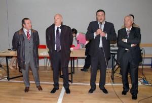 Paolo Campo con ex assessori del Comune di Manfredonia Prencipe e Bisceglia