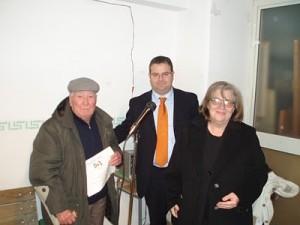 Aldo Ragni con l'assessore Elena Gentile a San Marco in Lamis
