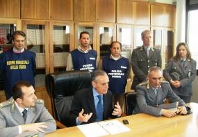 La conferenza stampa di stamane in Procura di Foggia (image N.Saracino)