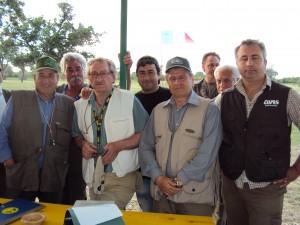 i giudici federali con i due finalisti del barrage D'amelio di benevento e Tarantino di Carapelle (fg)