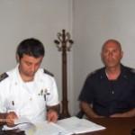 Un momento della conferenza stampa stamane in Capitaneria