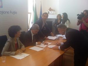 La firma in regione del sindaco Dotoli relativamente al Pirp di Volturino (Stato)