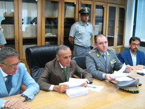 La conferenza stampa in Procura della Repubblica (Stato)