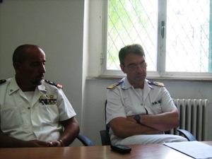 La conferenza stampa in Capitaneria di Porto (image STATO)