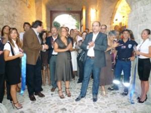 Nicoletta Mantovani, il sindaco Riccardi, l'assessore Riccardi al Castello (image M.Petruzzi)