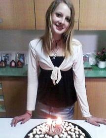 Sarah Scazzi il giorno del suo 15^compleanno (St)