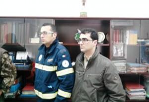 Matteo Perillo (Paser-Coord. Provinciale Prot.Civile) e il candidato del centrodestra a Zapponeta F.La Macchia (ST)