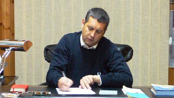 Il sindaco di Trinitapoli F.Di Feo (ST)