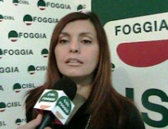 La segretaria generale della Fim Cisl di Foggia, Filomena Campodipietro (stato@)