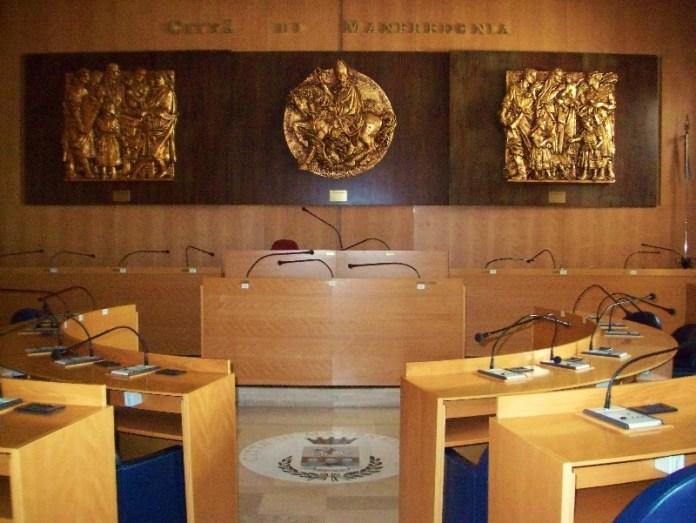 Aula consiglio comunale Manfredonia (archivio)