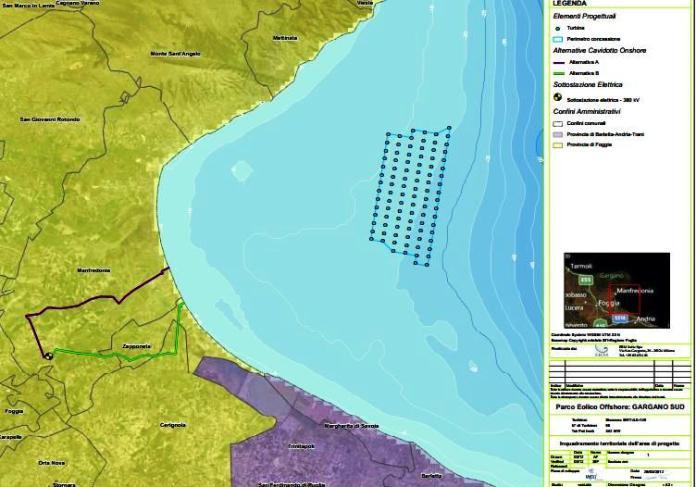 Progetto eolico Marino Gargano Sud (STATOQUOTIDIANO) immagine d'archivio