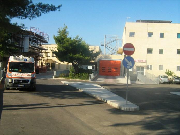 Pronto soccorso Manfredonia, ingresso (ph: statoquotidiano)