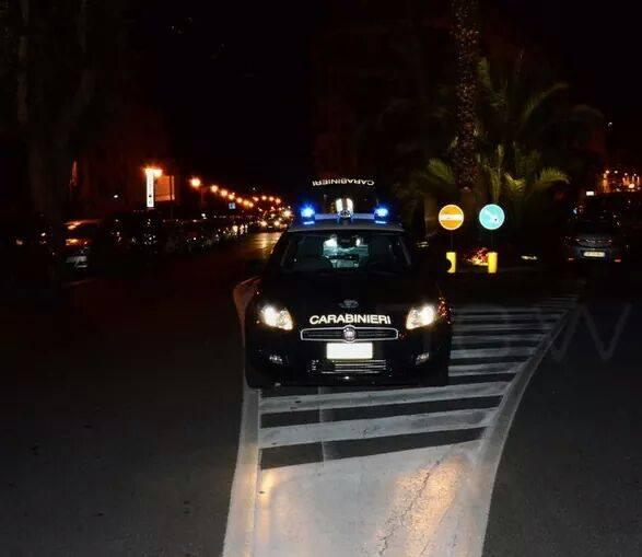 Controlli carabinieri di Manfredonia (st) immagine d'archivio