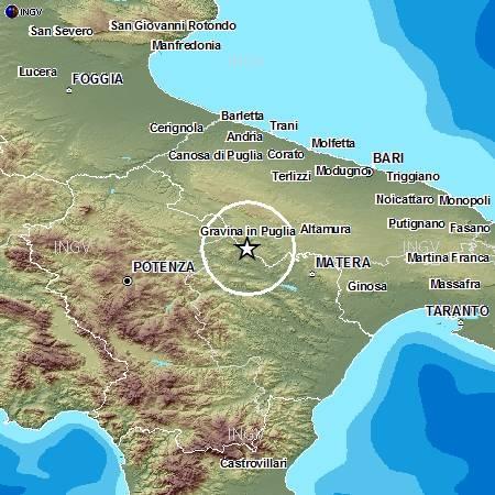 Mappa Puglia E Basilicata.Scossa M2 7 Tra Basilicata E Puglia La Quarta In 10 Giorni Stato Quotidiano