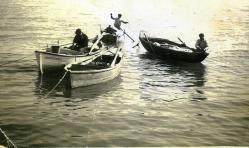 Fine anni '50 Battellande in zona di mare Villaggio dei Pescatori