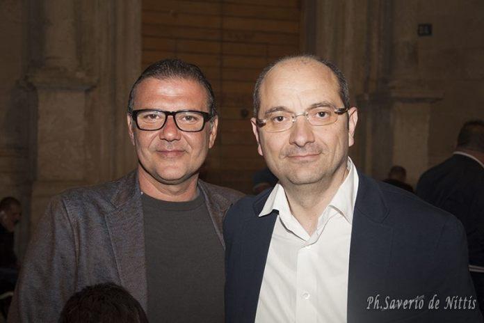 Il consigliere regionale Paolo Campo con il sindaco di Manfredonia Angelo Riccardi (ph saverio de nittis)