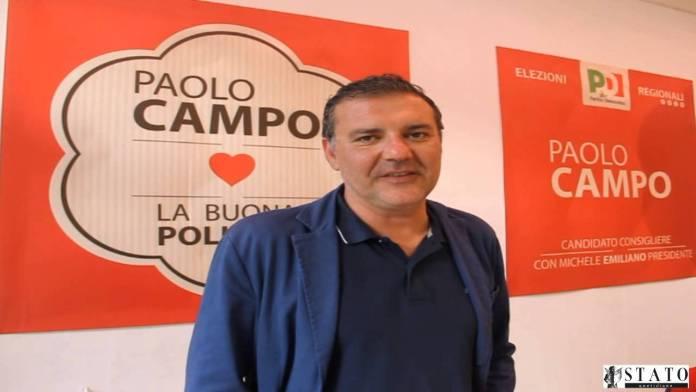 Il consigliere regionale del Pd avv. Paolo Campo (sq)