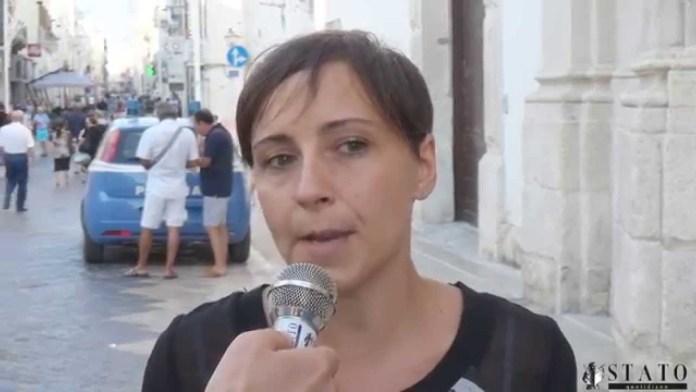 Rosa Barone, consigliera regionale del Movimento 5 Stelle, a Manfredonia (statoquotidiano)