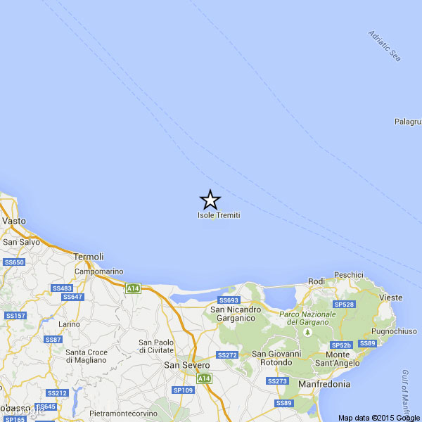 Terremoto sulla costa garganica