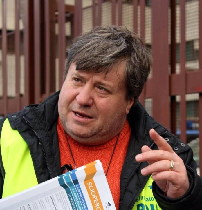 Il segretario del SAP di Foggia G.Vigilante (ph maizzi)