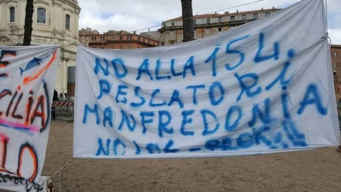 PROTESTE PESCATORI MANFREDONIA A ROMA - PH SQ (02.03.2017)