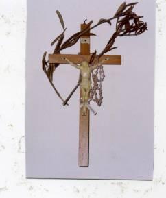 Palma benedetta posta su un Crocifisso in un ufficio pubblico