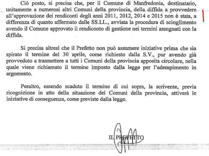 PAGINA 2,  NOTA PREFETTO FOGGIA 05.05.2017