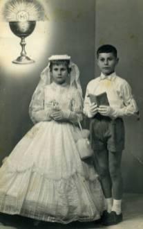 Due fratelli il giorno della prima comunone
