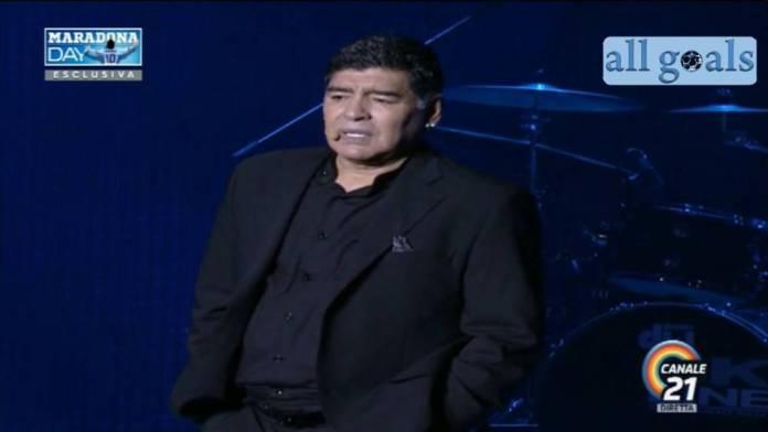 Diego Armando Maradona festa in piazza Plebiscito