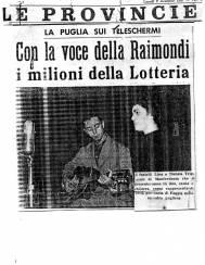 1957-Lino e Nunzia Trigiani al concorso RAI -Voci e Volti della Fortuna