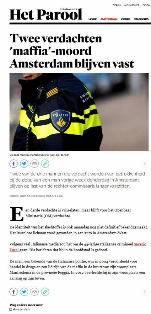 TESTO www.parool.nl - Door: ANP 16 oktober 2017, 17:56