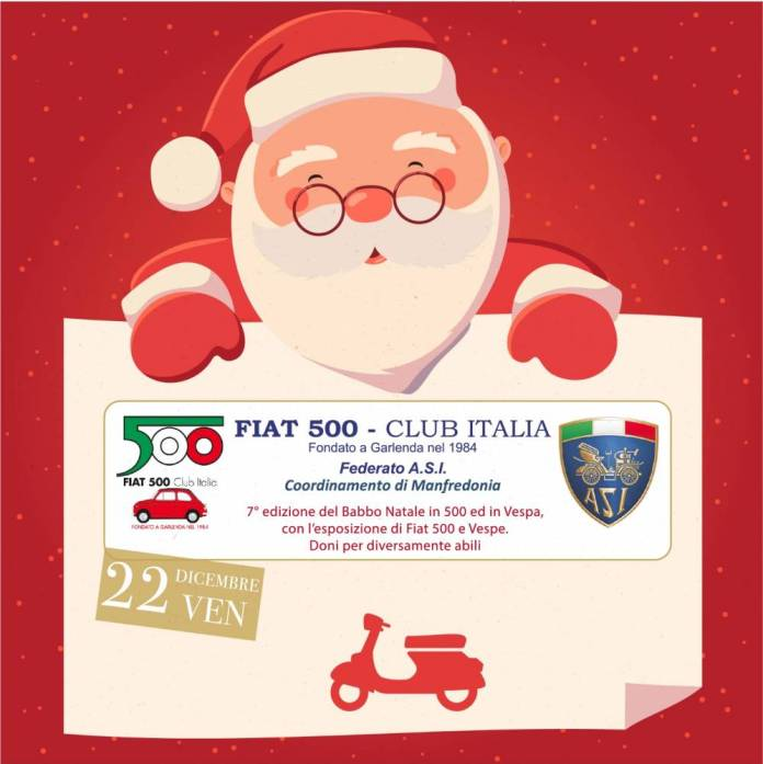 Logo 7^ Ed. Babbo Natale in Vespa e in 500 - 22 dic. 2017