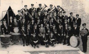 1955-Il complesso bandistico di Manfredonia diretto dal M° Lorenzo Leporace
