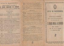 Programma Festa Patronale 1948