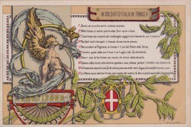 Consigli ai soldati in trincea nel corso della prima guerra mondiale