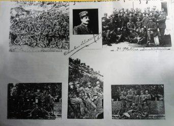 Il M° Cherubino Salvatore Murgo al fronte con gli altri commilitoni durante la prima guerra mondiale