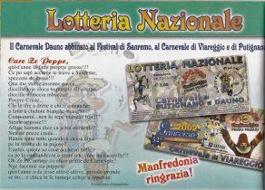 Carnevale Dauno 2002-Lotteria Nazionale- e lirica di Francesco Granatiero