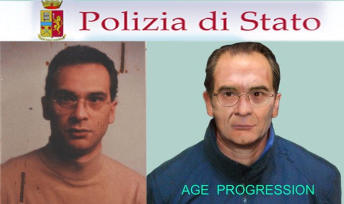 Italian police released 4 July 2011 this composite 'age progression' identikit image of one of the top ten most wanted criminals in the world, Sicilian Mafioso Matteo Messina Denaro, 49, also known as Diabolik. The image of Denaro, 49, has been aged to update a previous identikit issued in 2007, a year after he took over Cosa Nostra following the arrest of Bernardo Provenzano. He has been on the run since 1993 ANSA/POLICE