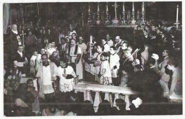 Anni '50- Sacro Rito in Cattedrale del Sabato Santo al tempo dell'arc.Andrea Cesarano(1)