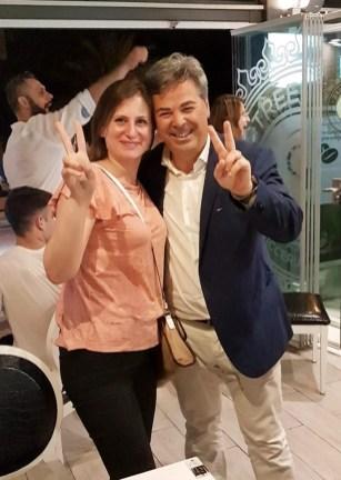 Da sinistra: Concetta Soragnese (Lega) e Franco Landella