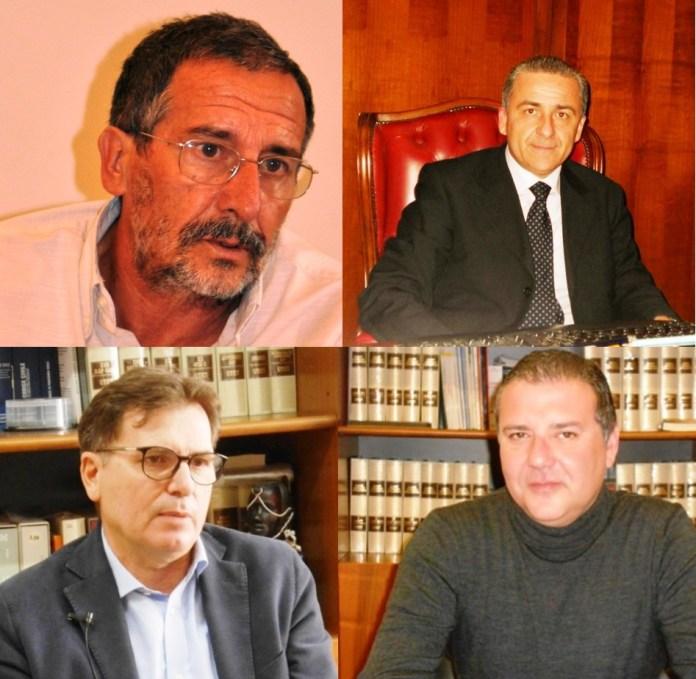 Da sinistra verso destra, in senso orario: Paolo Cascavilla, Giandiego Gatta, Paolo Campo, Gaetano Prencipe (combo sq)
